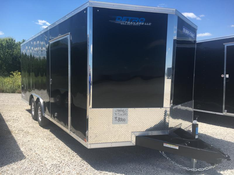2020 Sure-Trac 8.5x20 Pro Series Wedge Enclosed Car Hauler 10K Trailer
