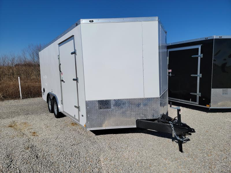 2021 Rhino Trailers 8.5X16 Rear Ramp Door Enclosed Trailer
