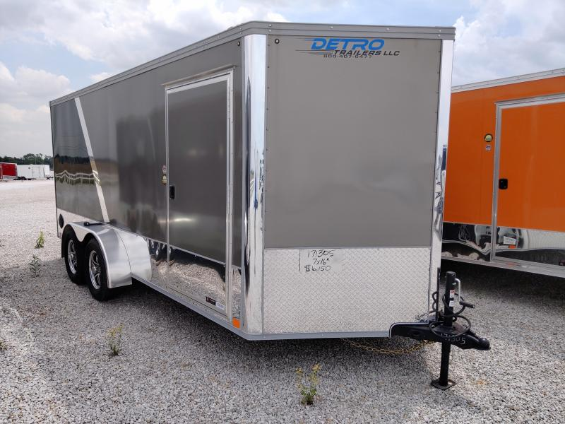 2020 United Trailers 7X16 Pewter/Black Motorcycle Trailer