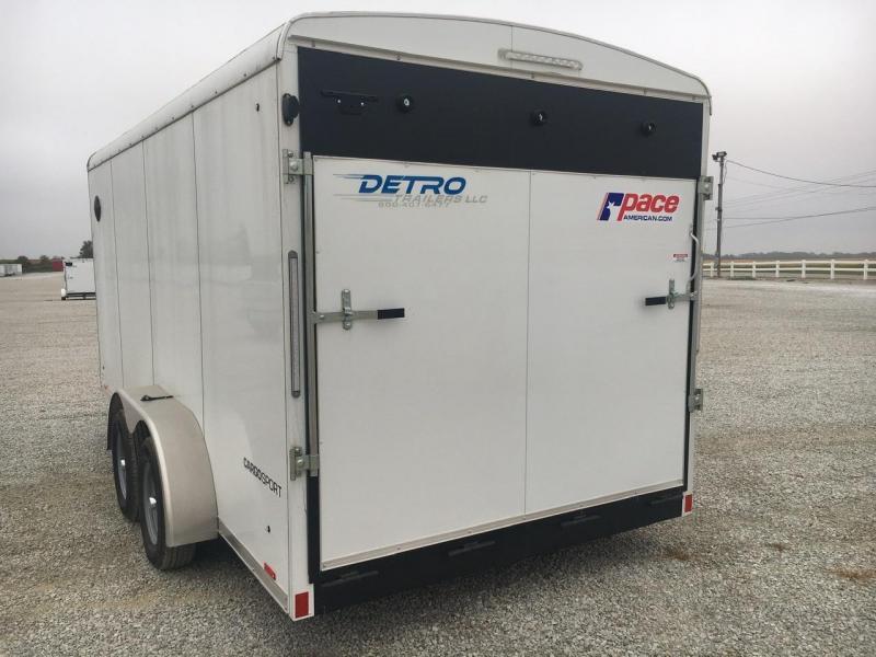 2021 Pace American 7x16 Enclosed Ramp Door Trailer
