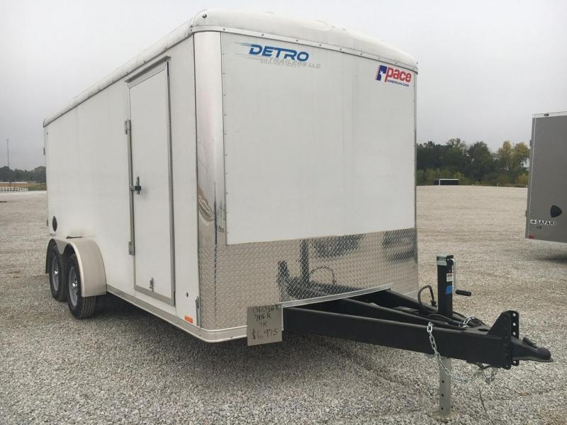 2021 Pace American 7X16 Enclosed Ramp Door Trailer