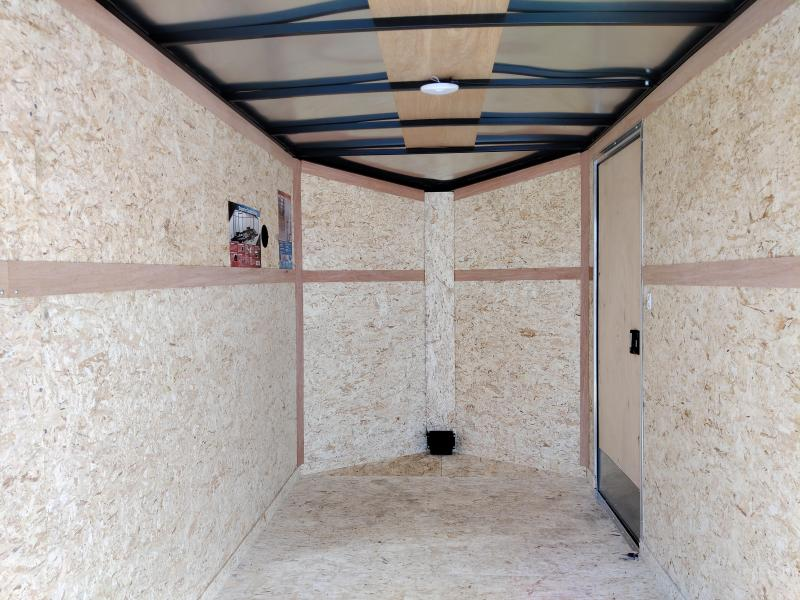 2021 Cargo Express 6X12 Enclosed Ramp Door TA Trailer
