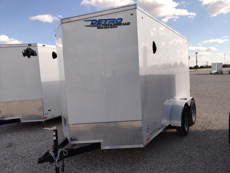 2021 Cargo Express 6x12 Enclosed Ramp Door TA Trailer