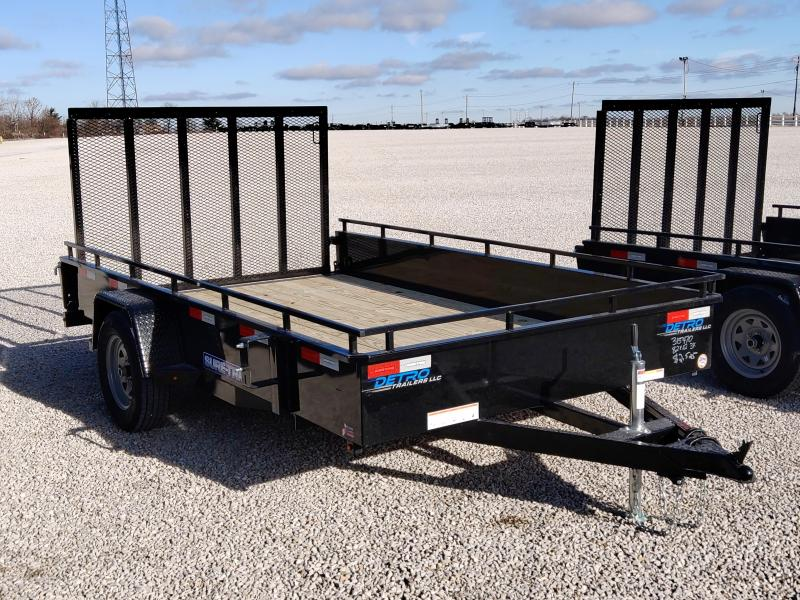 2021 Sure-Trac 7x12 Steel High Side Trailer 3K Idler
