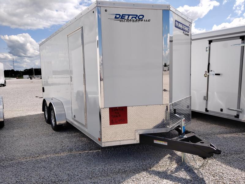 2021 Sure-Trac 7x16 Pro Series Wedge Enclosed Ramp Door TA 7K
