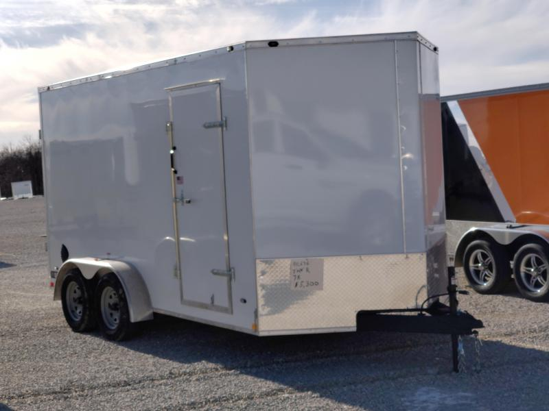 2021 Rhino 7x14 7K Enclosed Ramp Door Trailer