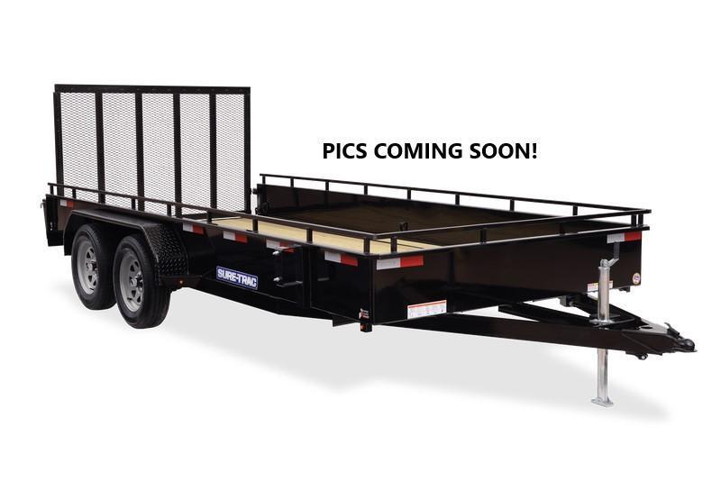 2021 Sure-Trac 7x16 Steel High Side 10K Tandem Trailer