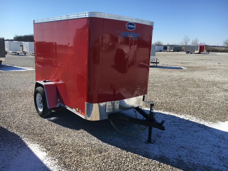 2020 United 5X8 Enclosed Ramp Door Trailer