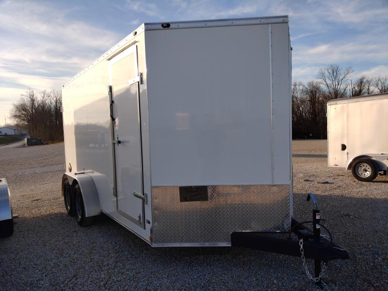 2021 Rhino 7x14 Double Rear Door Enclosed Trailer