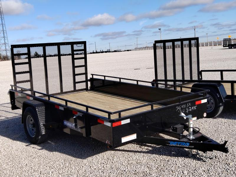 2021 Sure-Trac 7x12 Steel High Side 5K Trailer w/Brakes