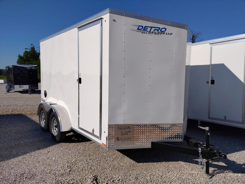 2021 Cargo Express 7X12 Enclosed DRD TA Trailer