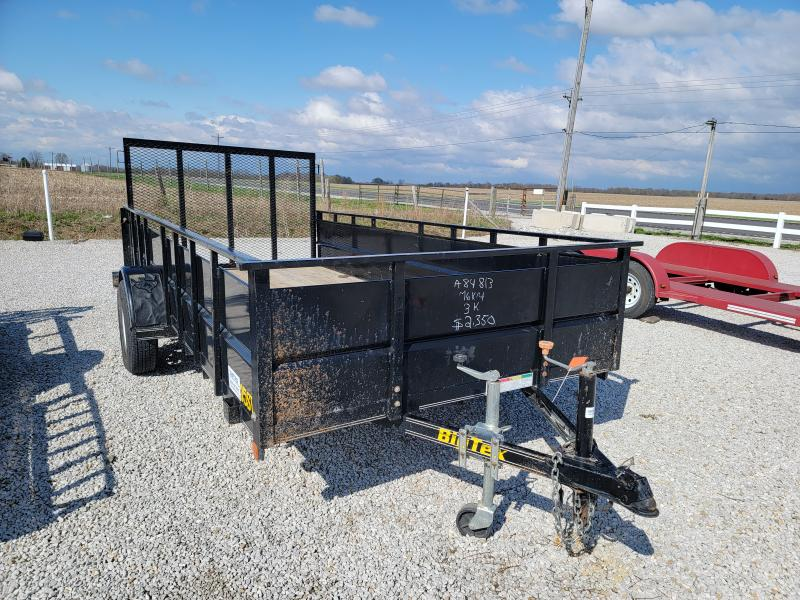 2002 Big Tex Trailers 76X14 High Side Utility Trailer