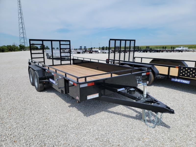 2021 Sure-Trac 7x16 7K Tandem Steel High Side Trailer