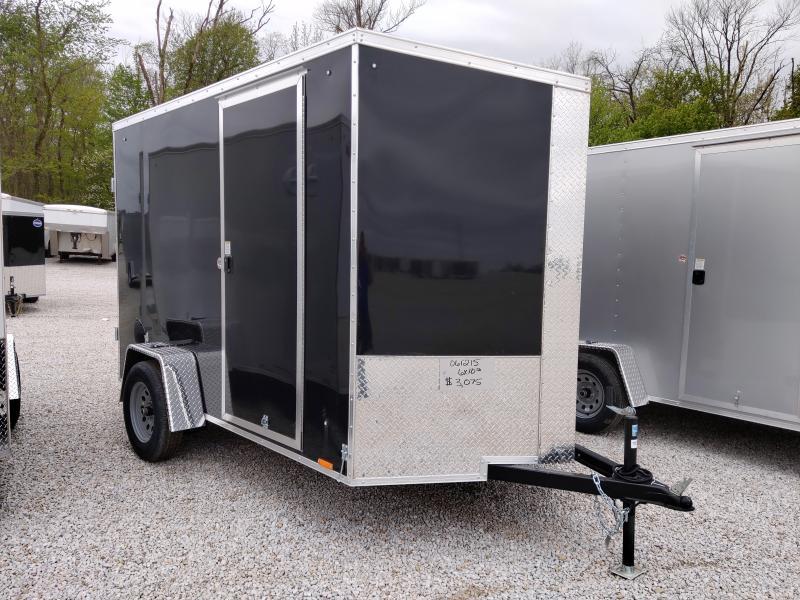 2021 Black Cargo Express 6X10 Enclosed DRD SA Trailer