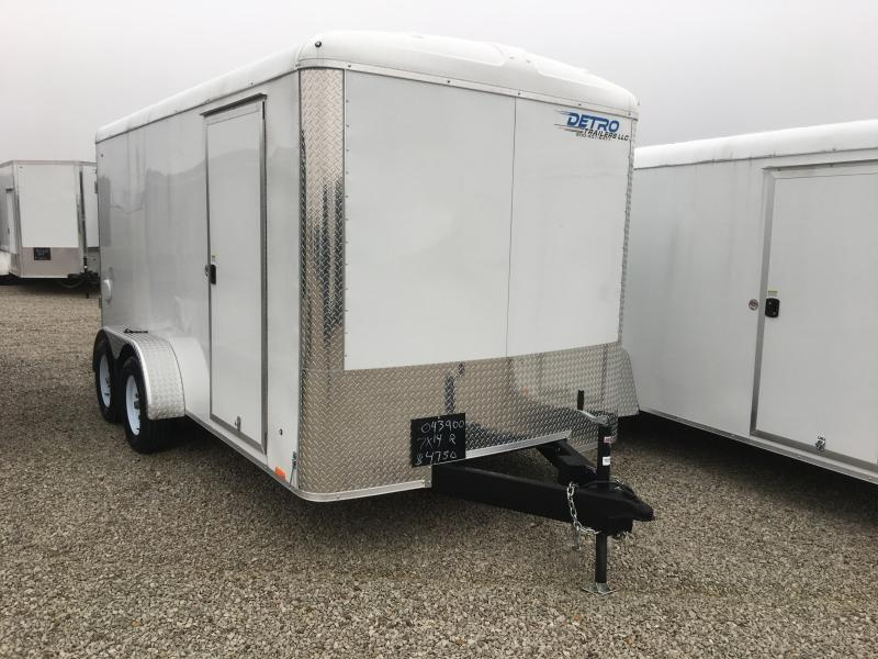 2019 Cargo Express 7x14 Roundtop Enclosed Ramp Door Trailer