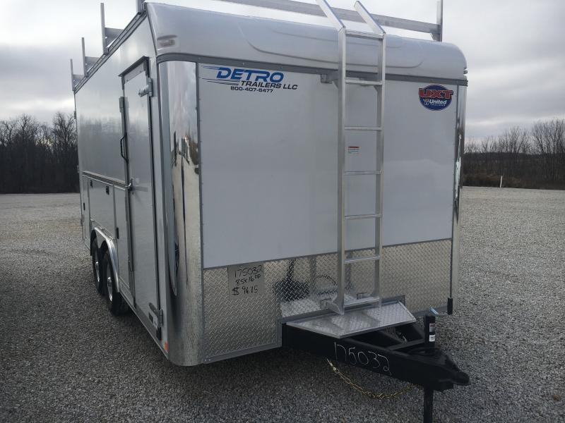 2021 United Tool Crib 8.5x16 Double Rear Door Enclosed Trailer