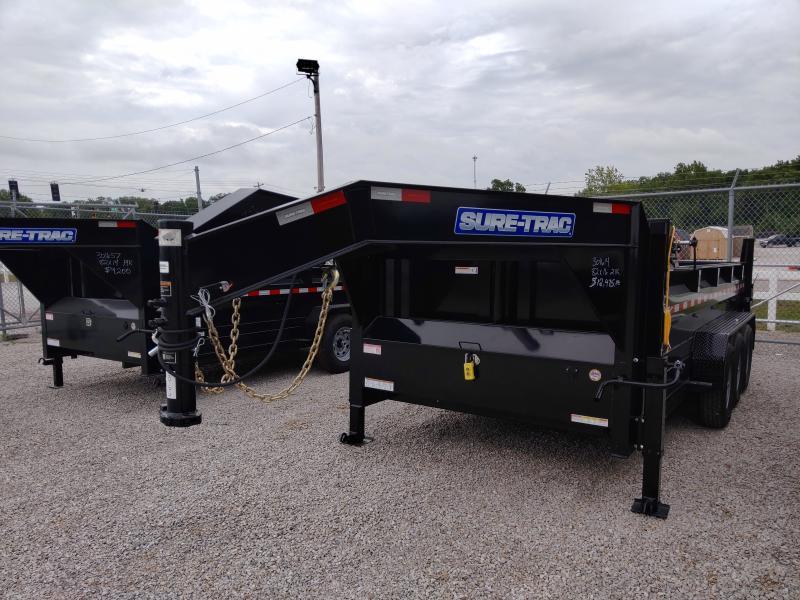 2021 Sure-Trac 82x16 21K Telescopic Triaxle Gooseneck Dump Trailer