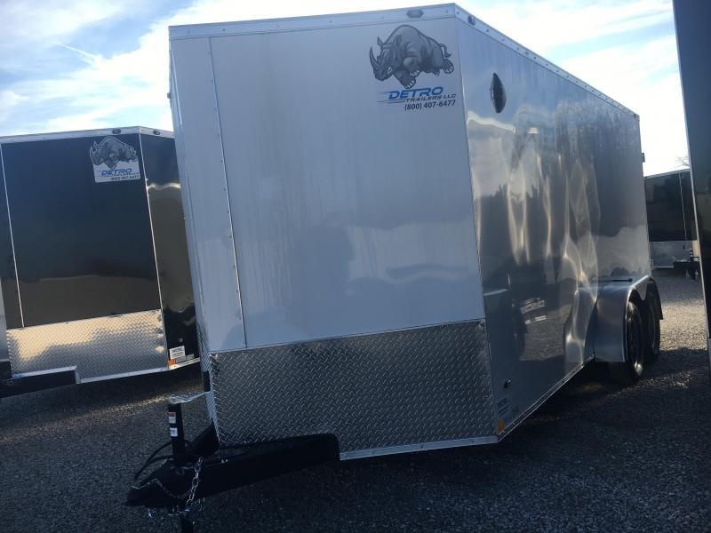 2021 Rhino 7x16 Double Rear Door Enclosed Trailer