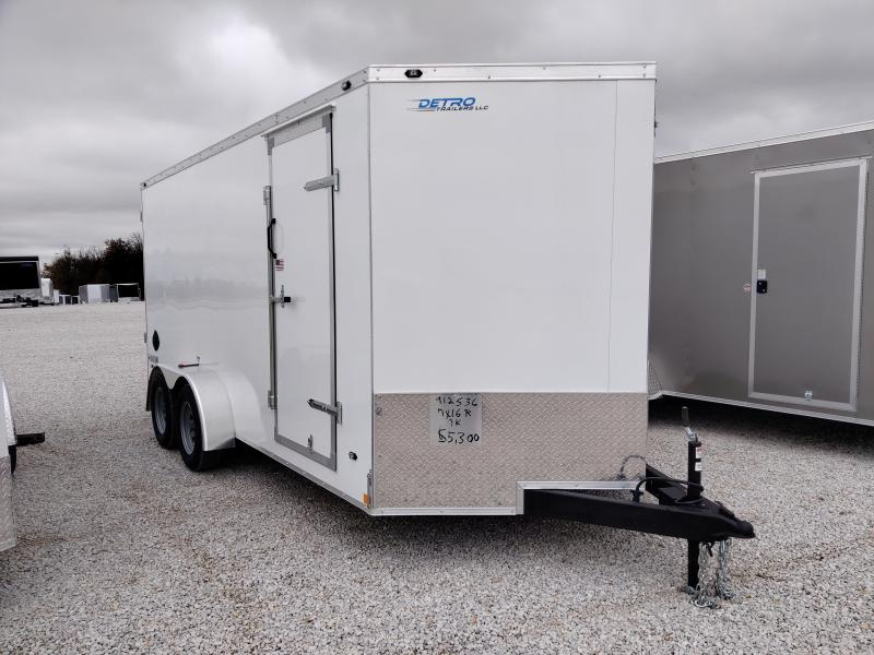 2021 Rhino 7x16 Safari Enclosed Ramp Door 7K Trailer