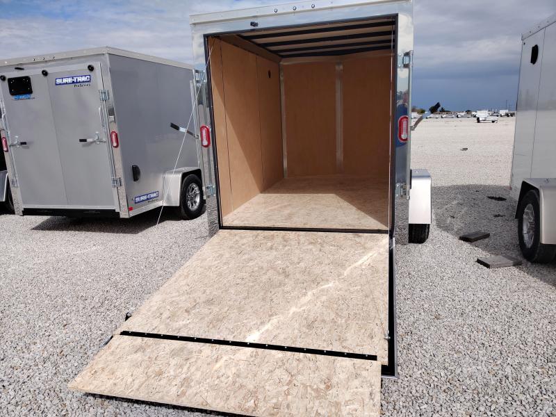 2021 Sure-Trac 6x10 Pro Series Enclosed Wedge Ramp Door Trailer