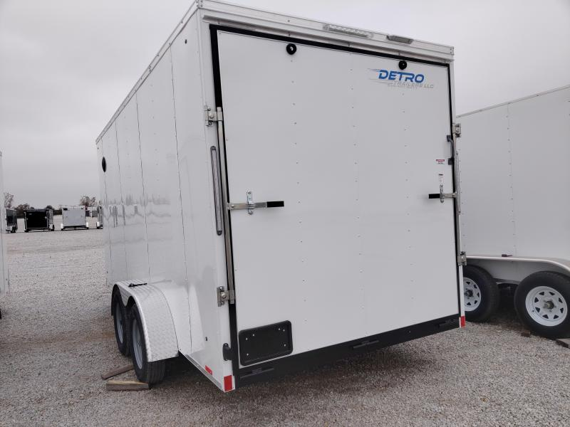 2021 Cargo Express 7X16 Enclosed Ramp Door TA Trailer