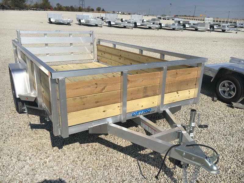 2021 Sure-Trac 6X10 Aluminum 3-Board High Side Utility Trailer