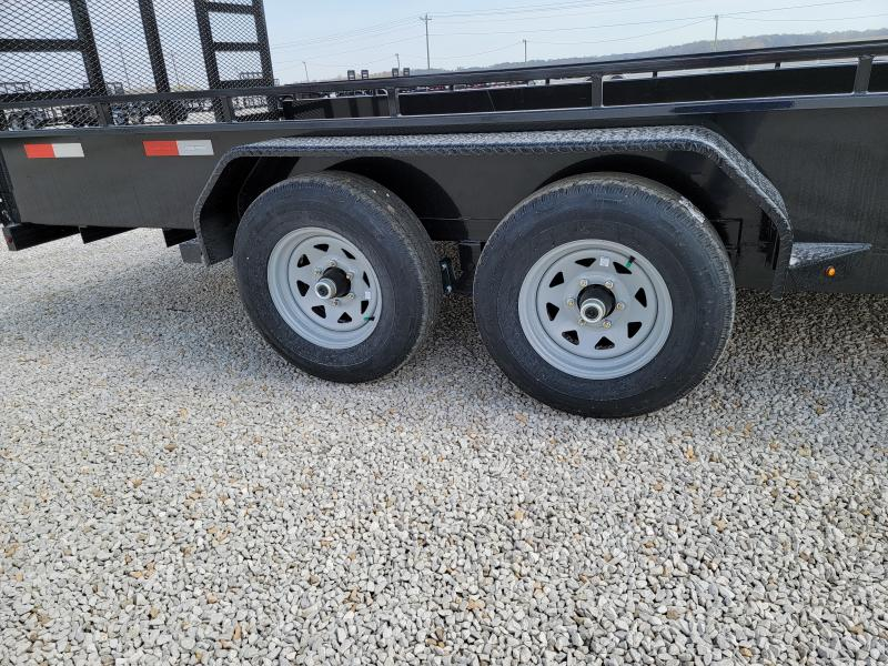 2021 Sure-Trac 7 x 18 Steel High Side Trailer  10K Tand