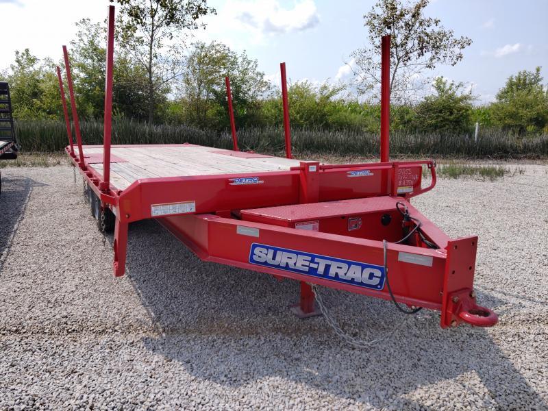 2019 Sure-Trac RED 102X22 Deckover 17.6K TILT Equipment Trailer Factory Demo
