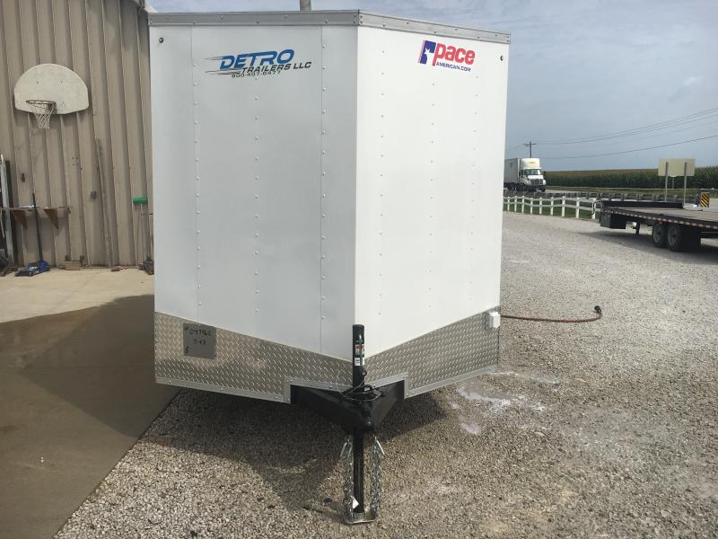 2019 Pace American 7X12 Enclosed Trailer w/Electric and Cabinets
