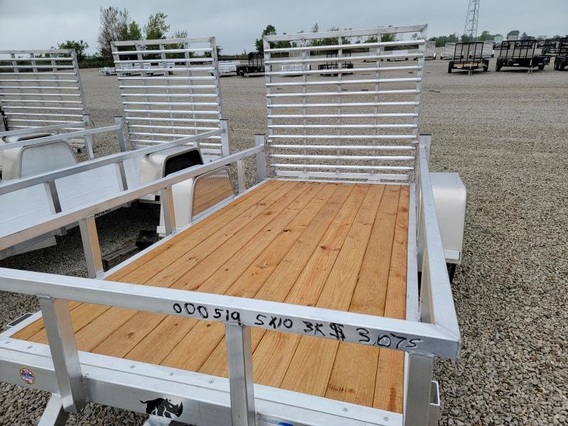 2021 Black Rhino Aluminum Wood Deck 5x10 Utility Trailer