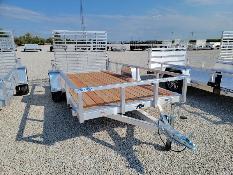 2022 Black Rhino 6x12 Aluminum Wood Deck Utility Trailer