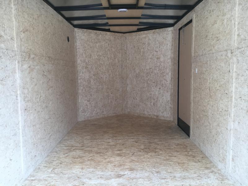 BLACKED OUT EDITION - 2021 Rhino Safari 7x14 Enclosed Ramp Door Trailer