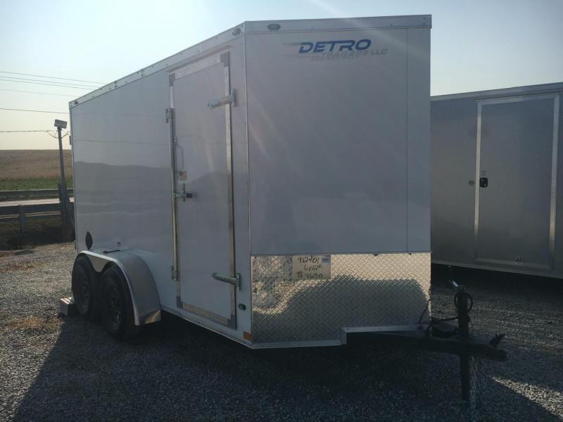 NEW MODEL -- 2021 Rhino Trailers 6X12 Cub Enclosed Ramp Door Trailer