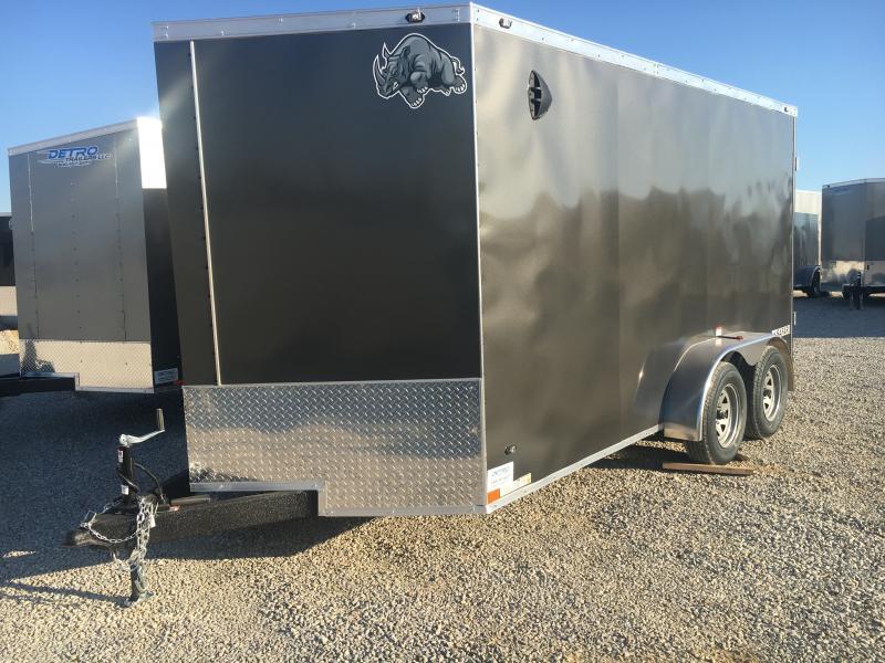 2021 Rhino 7x14 Enclosed Ramp Door Trailer