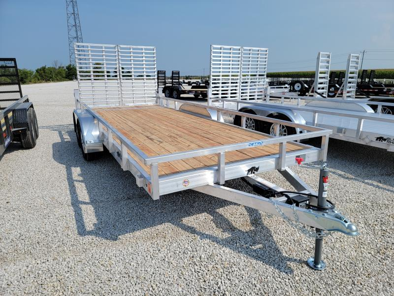 2022 Black Rhino 7x18 7K Aluminum Wood Deck Utility Trailer