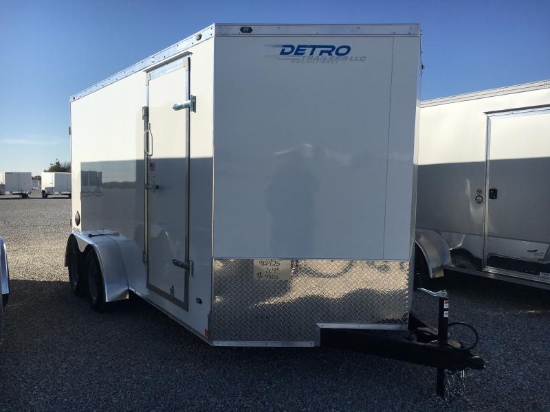 2021 Rhino Trailers 7X14 Enclosed Ramp Door 7K Trailer