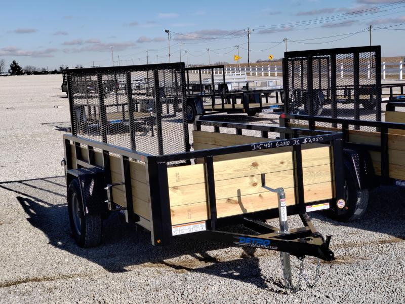 2021 Sure-Trac 5x10 Tube Top Three Board High Side Trailer