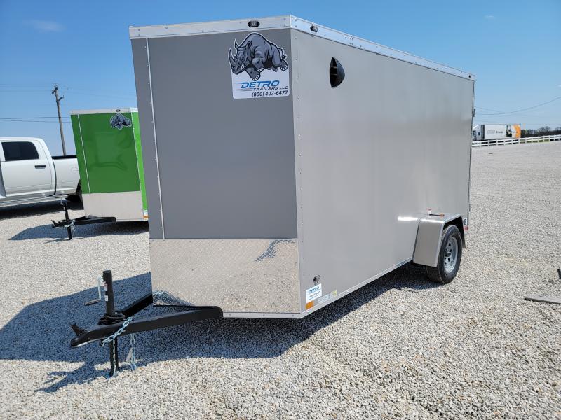 2021 Rhino Trailers 6X12 Rear Ramp Door Enclosed Cargo Trailer