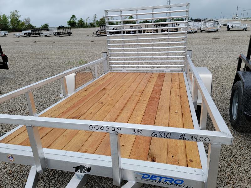 2021 Black Rhino Aluminum Wood Deck 6x10 Utility Trailer