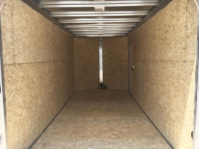 2019 EZ Hauler 7X16 Enclosed Aluminum Ramp Door TA Trailer
