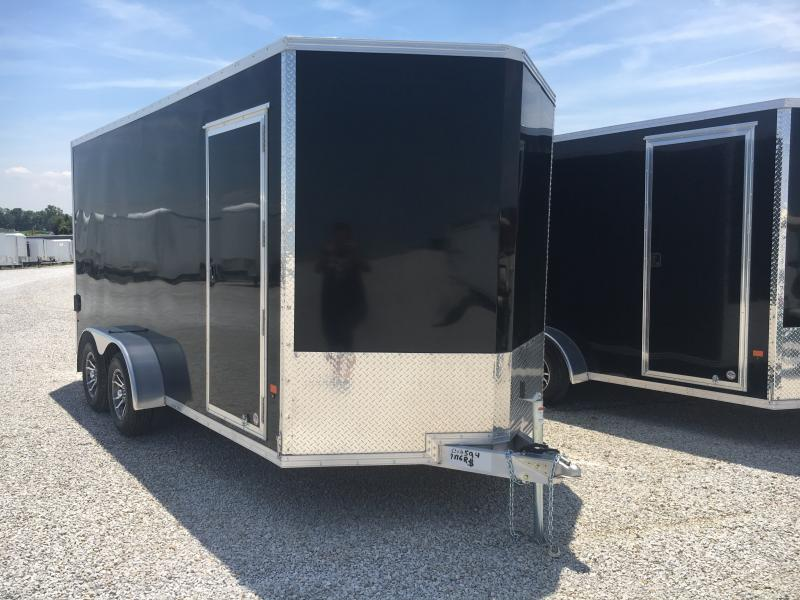2019 EZ Hauler 7X16 Enclosed Aluminum Ramp Door TA Trailer