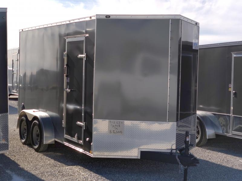 2021 Rhino 7x14 Ramp Door 7K Enclosed Trailer