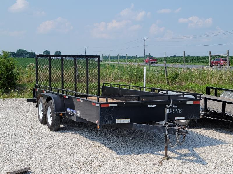 2010 Sure-Trac 7x16 Steel High Side 7K Utility Trailer