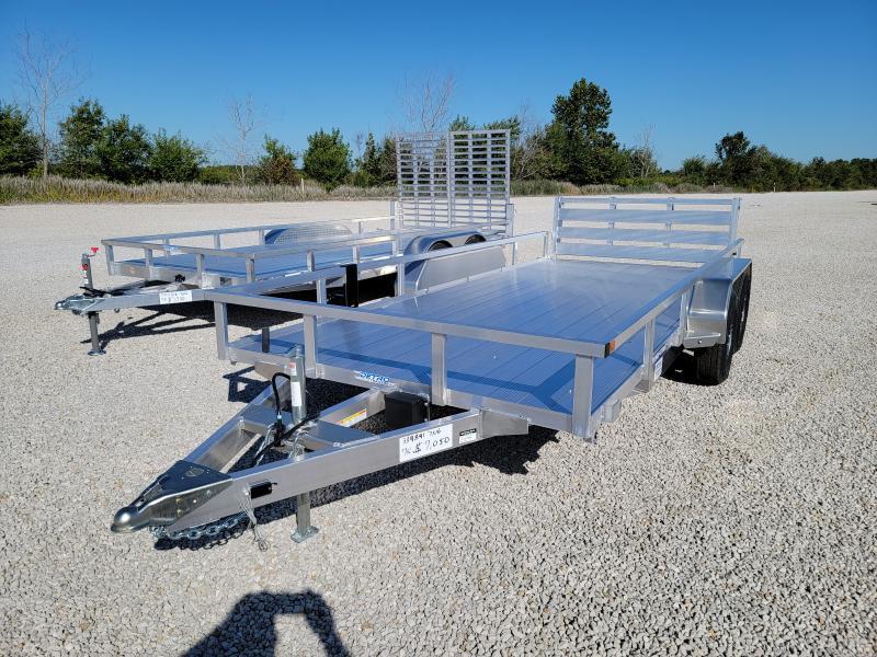 2021 Sure-Trac 7x16 Aluminum 7K Tandem Tube Top Utility
