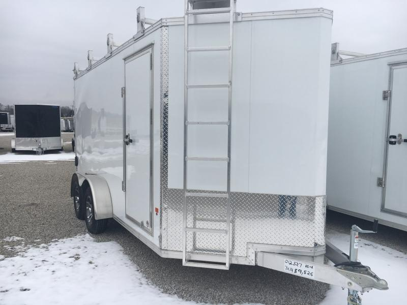2019 E-Z Hauler 7X14 Enclosed Aluminum Tool Crib DRD Trailer w/ Ladder Racks