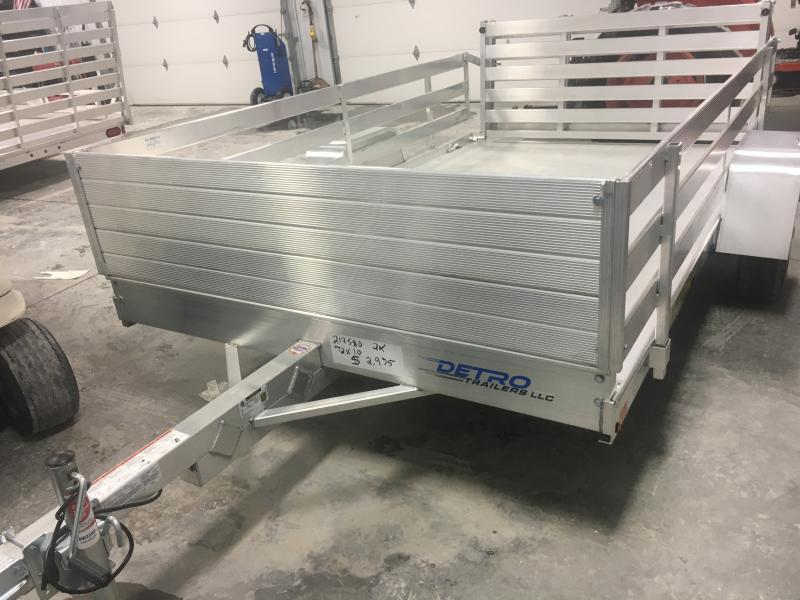 2020 Aluma 72X10 Utility Trailer w/ Side Rails