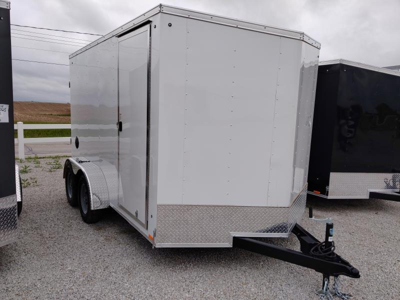 2021 Cargo Express 7X12 Enclosed Ramp Door TA Trailer