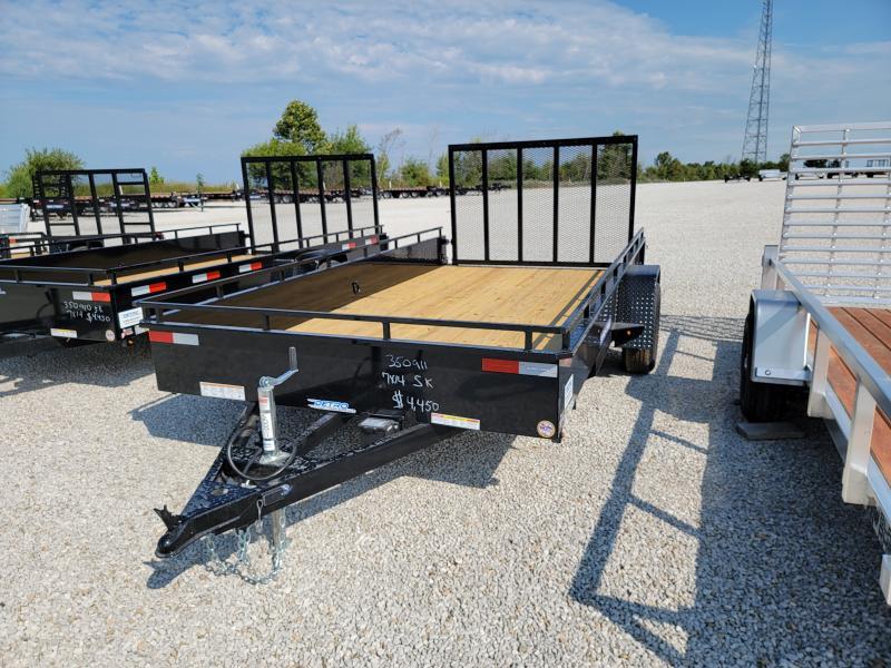 SALE PENDING - 2022 Sure-Trac 7x14 5K Steel High Side Trailer w/ Brakes