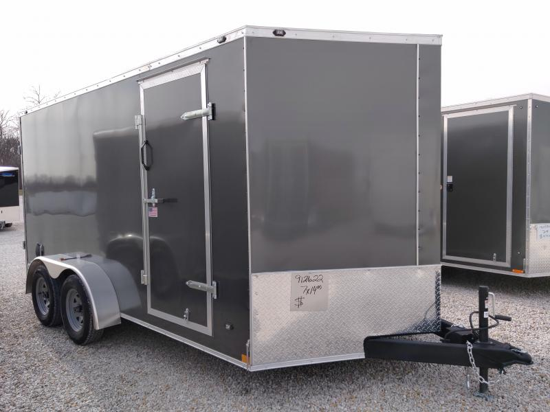 2021 Rhino 7x14 Enclosed Double Rear Door Trailer
