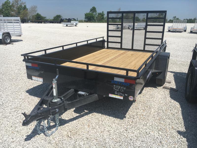 2021 Sure-Trac 7x12 5K Steel High Side Trailer w/ Brakes